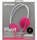 Incase Flint Stone/Pop Pink Pivot Packable Folding Headphones