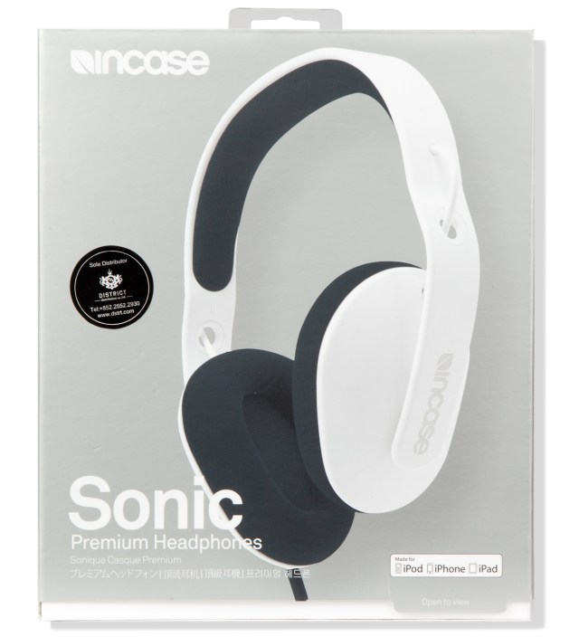 Incase White/Iron Sonic Premium Headphones