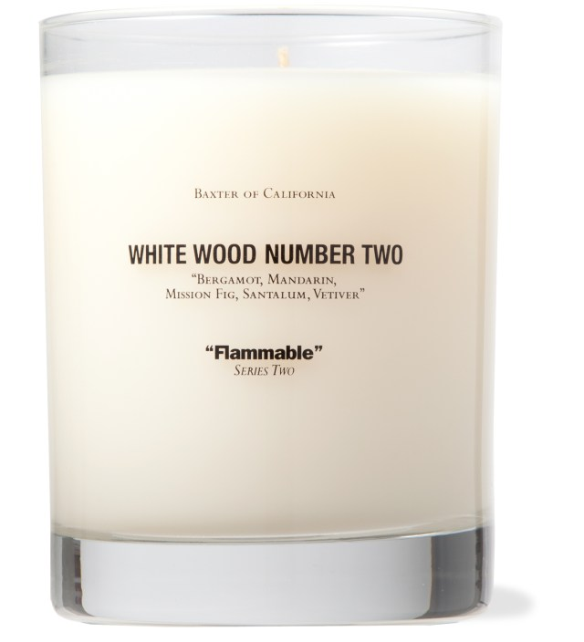 Baxter of California White Wood Number Two Candle