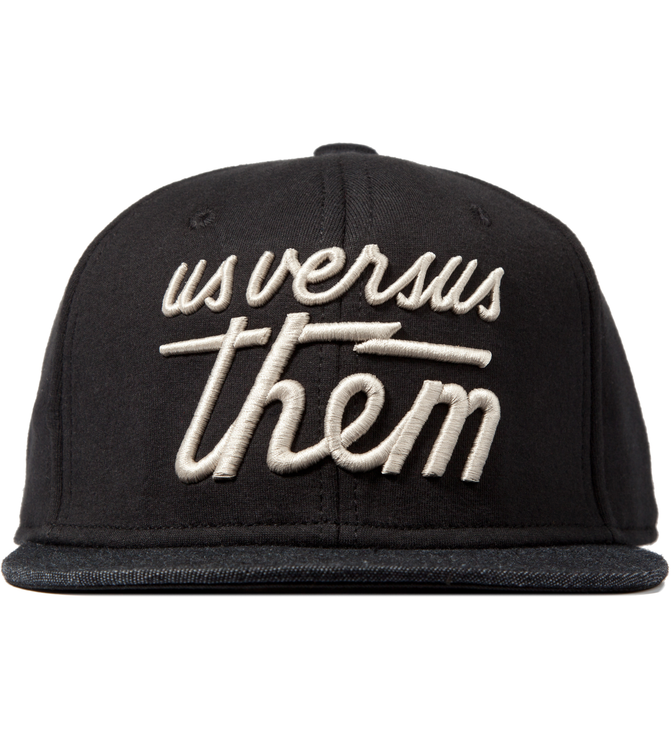 Us Versus Them Black Magnum Fleece Snapback Ballcap