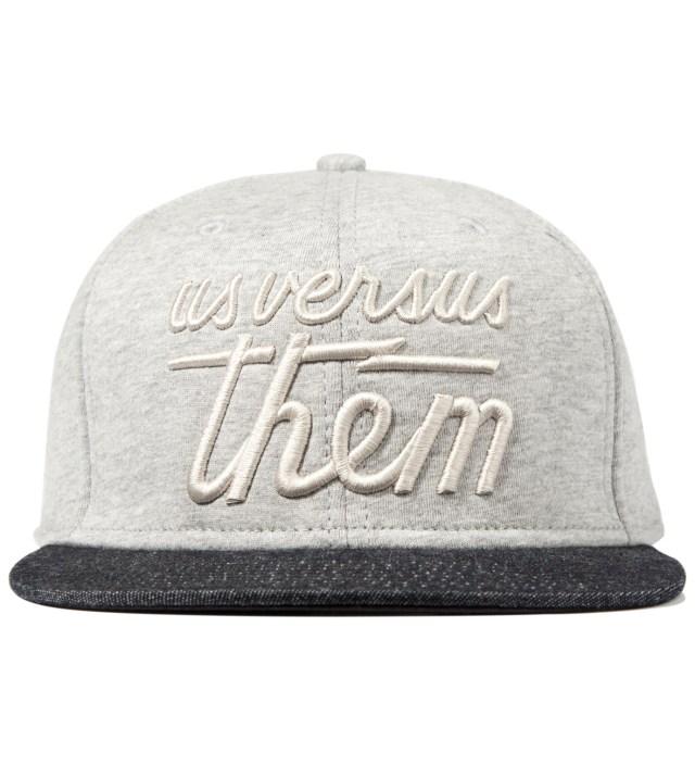Us Versus Them Heather Grey Magnum Fleece Snapback Ballcap