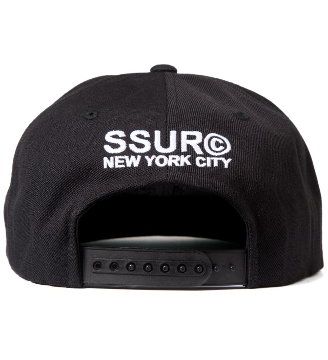 SSUR Black Fair Warning Snapback Cap