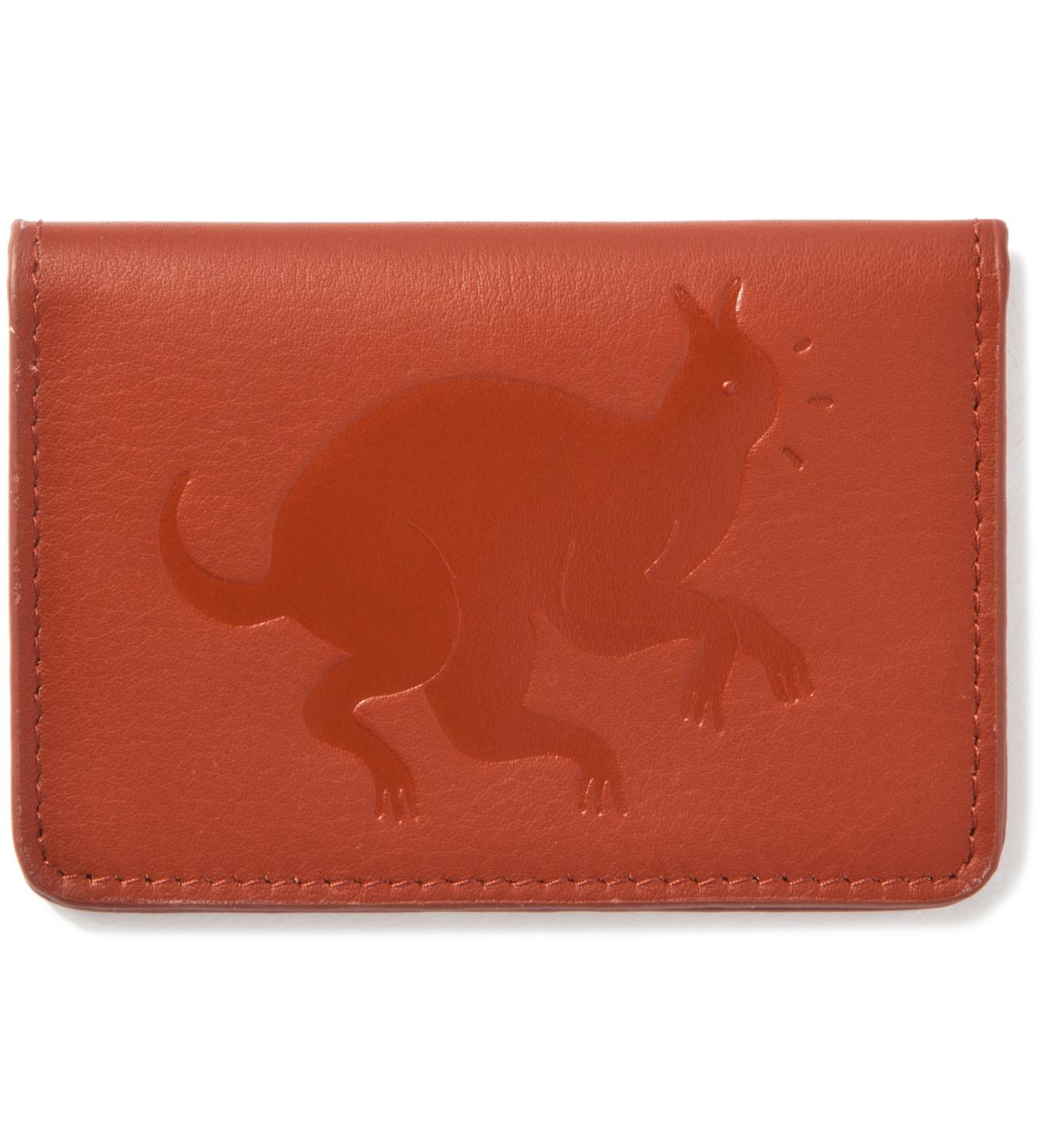 Parra Brown Leather Card Holder