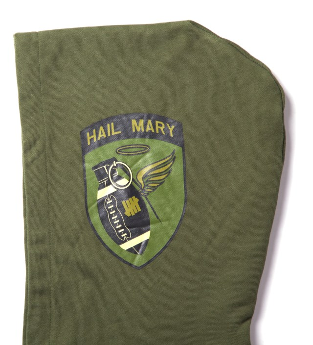 Undefeated Olive Hail Mary Zip Hoodie