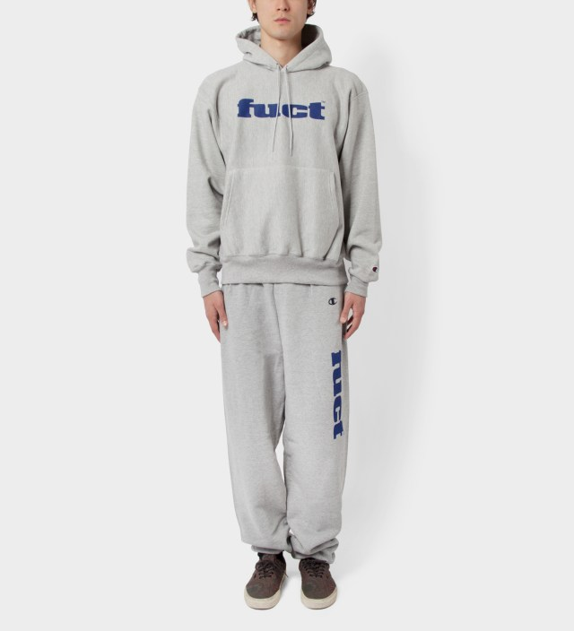 FUCT Grey OG Logo Sweat Suit
