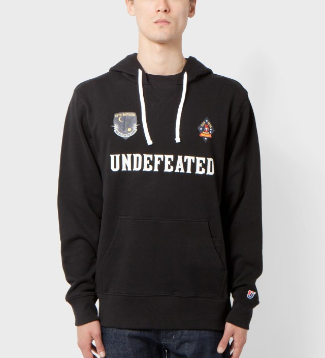 UNDEFEATED Black Battalion Crew Pullover Hoodie