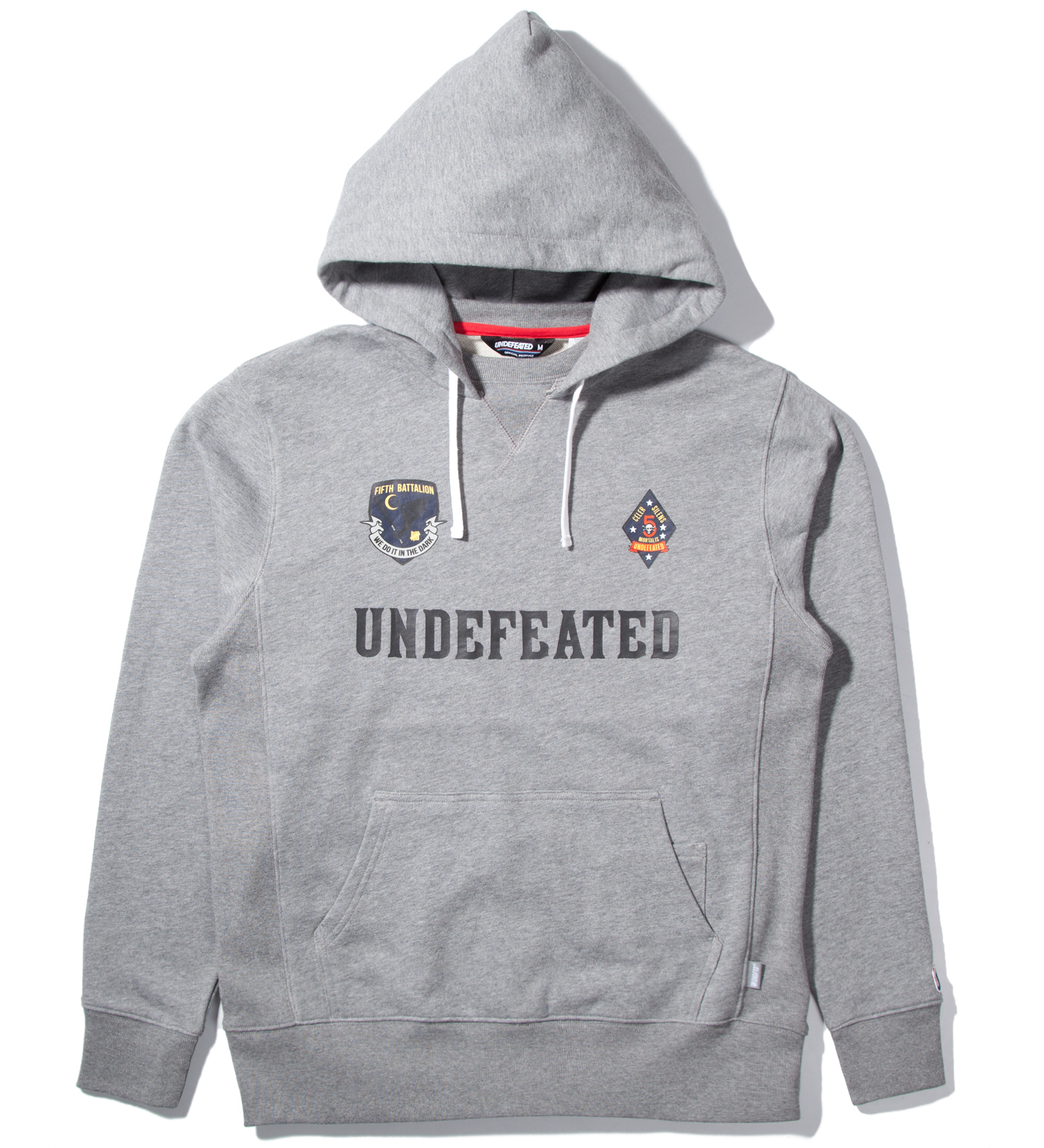 UNDEFEATED Heather Grey Battalion Crew Pullover Hoodie