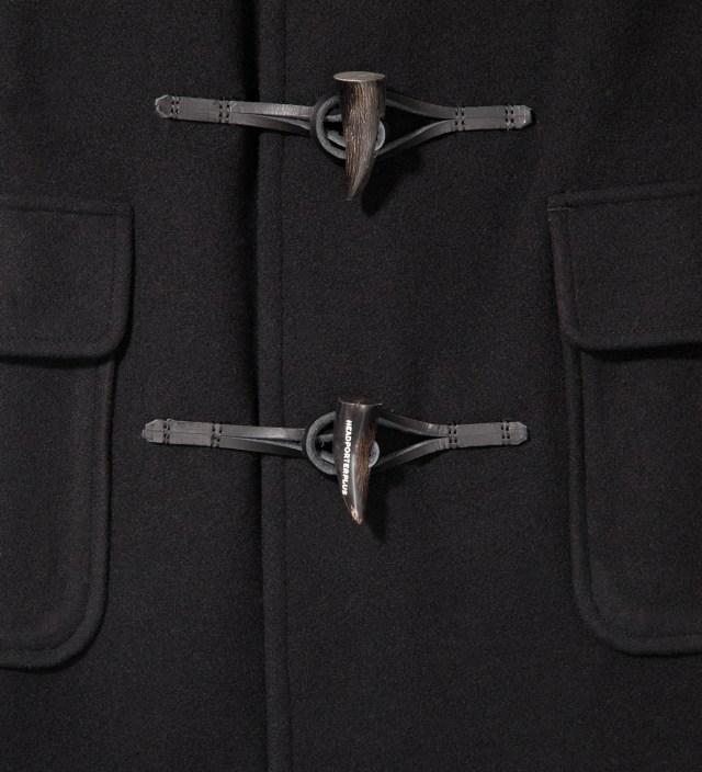 Head Porter Plus Black Down Duffle Coat