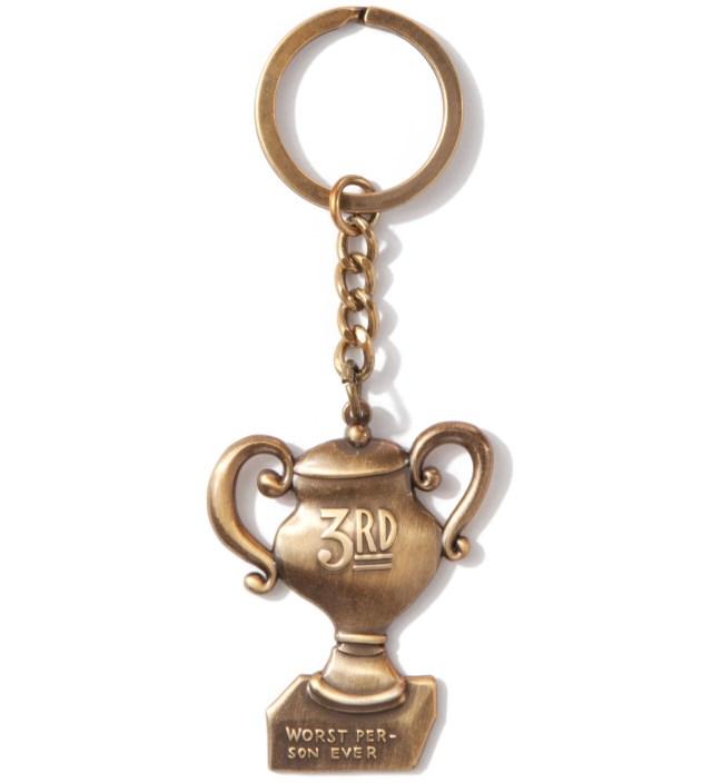 Parra Metal Bronze Worst Person Keychain