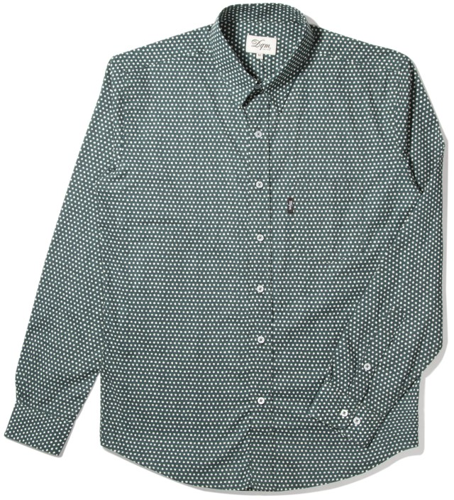 DQM Teal Uneven Dots Cinema Shirt