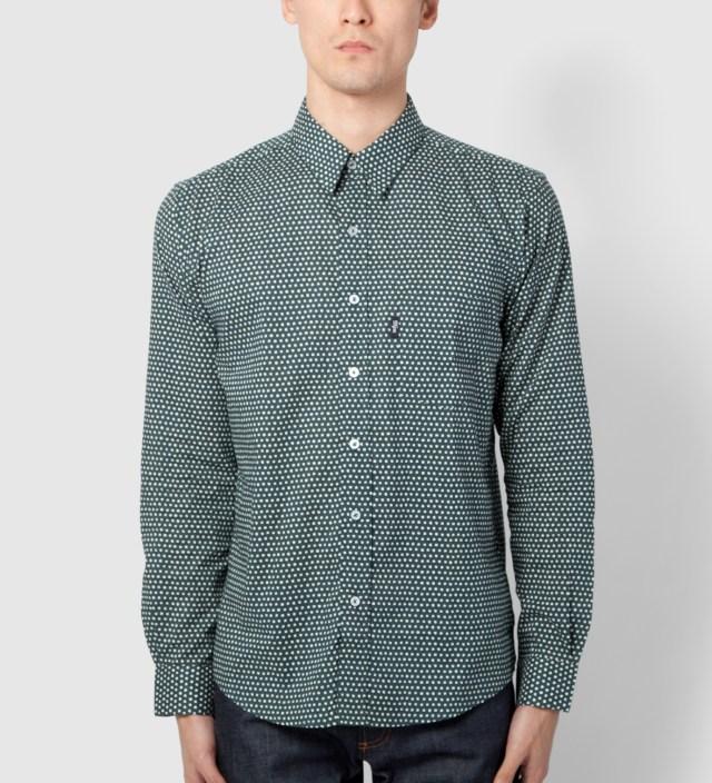 DQM Teal Uneven Dots Cinema Shirt