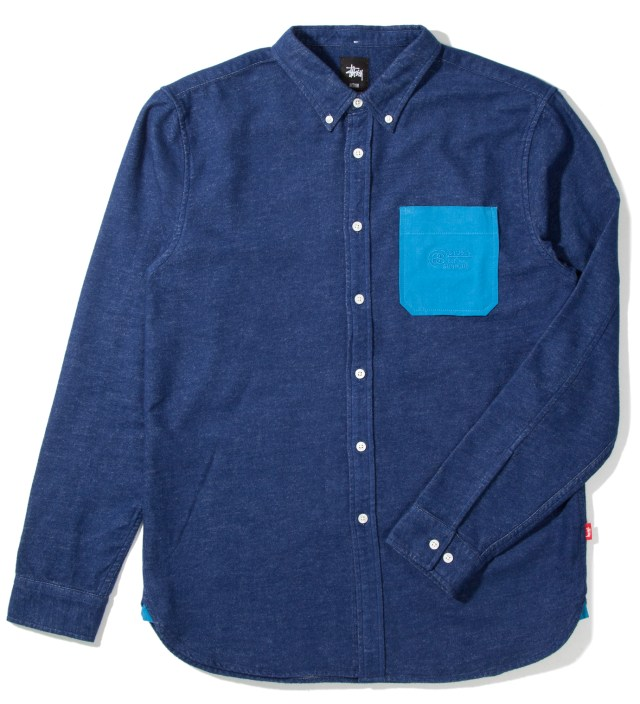 Stussy Navy Solid Flannel Shirt