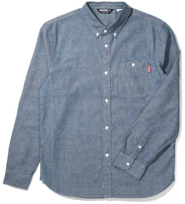 Undefeated Indigo Eagle Chambray Shirt