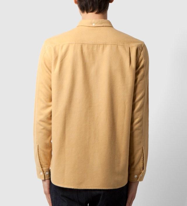 Stussy Khaki Solid Flannel Shirt