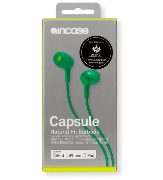 Incase Apple Green/Electric Lime Capsule Natural Fit Earbuds