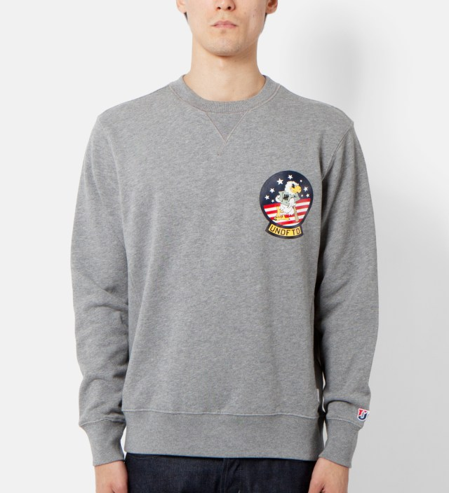 UNDEFEATED Heather Grey Eagle Crewneck
