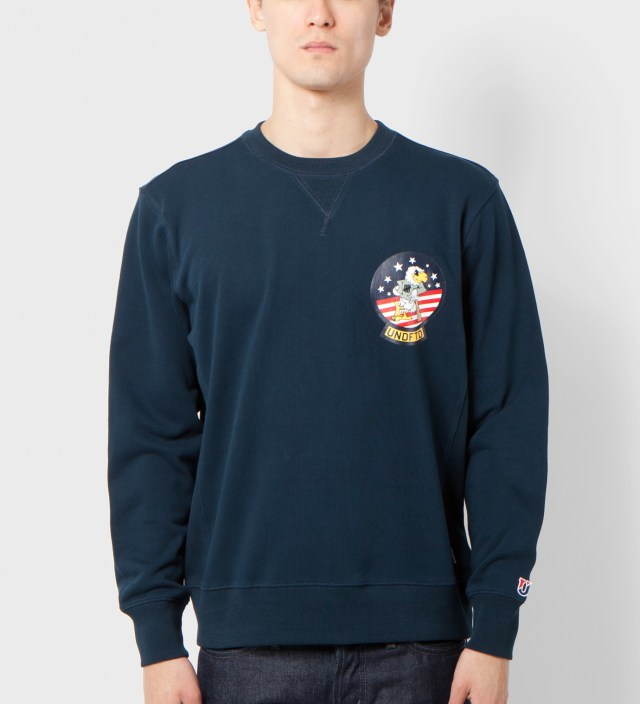 Undefeated Navy Eagle Crewneck