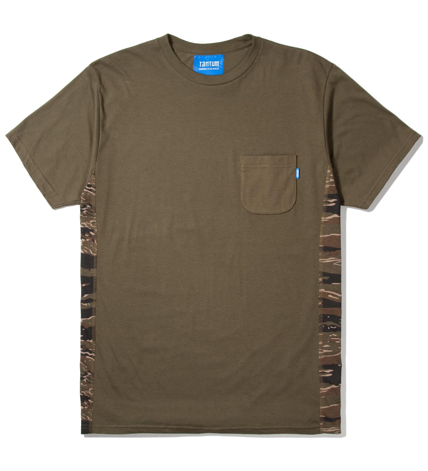 Tantum Olive Side Panel Tiger Stripe Camo T-Shirt