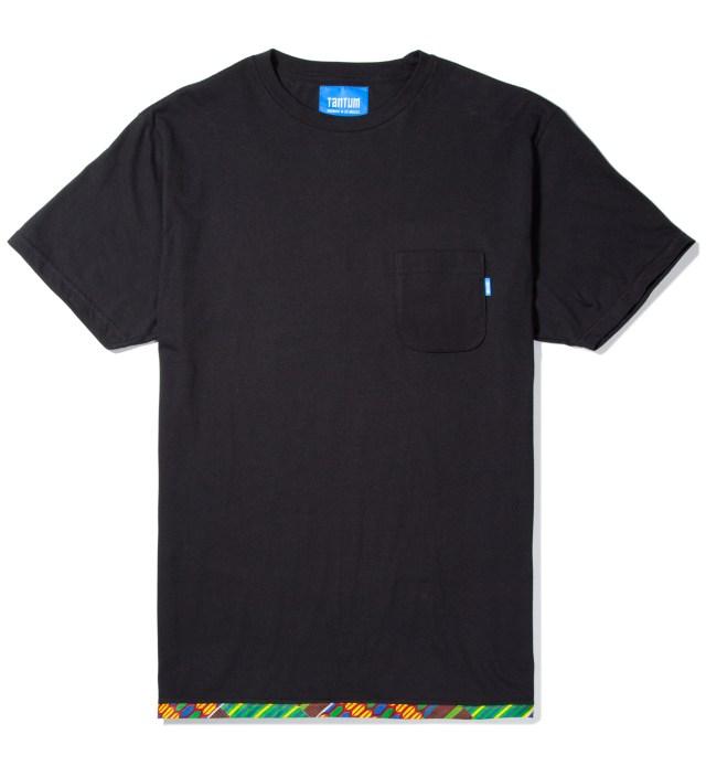 Tantum Black Hem Trim African Waxed T-Shirt