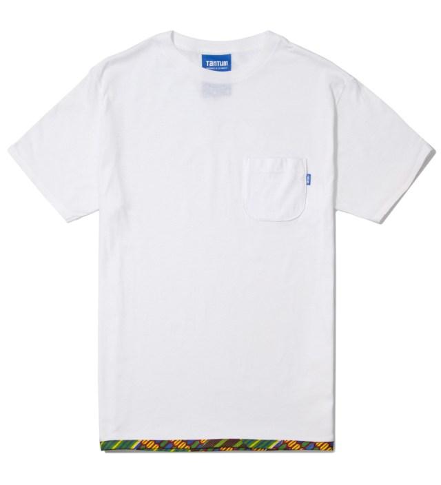 Tantum White Hem Trim African Waxed T-Shirt