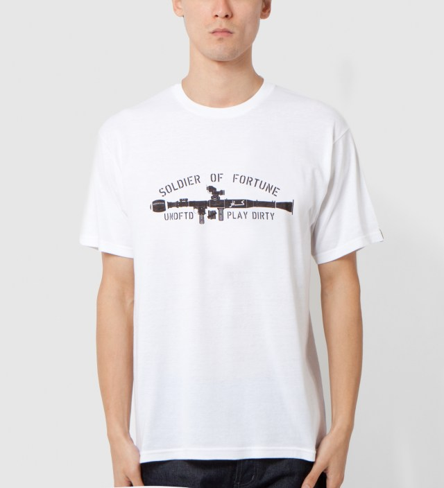 UNDEFEATED White SOF Gun T-Shirt