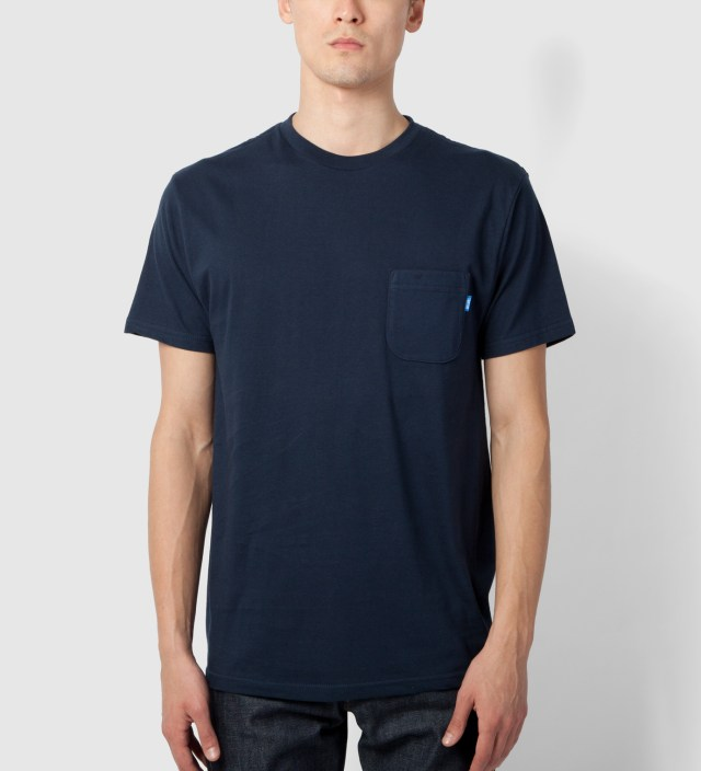 Tantum Navy New Yoke Green Patchwork T-Shirt