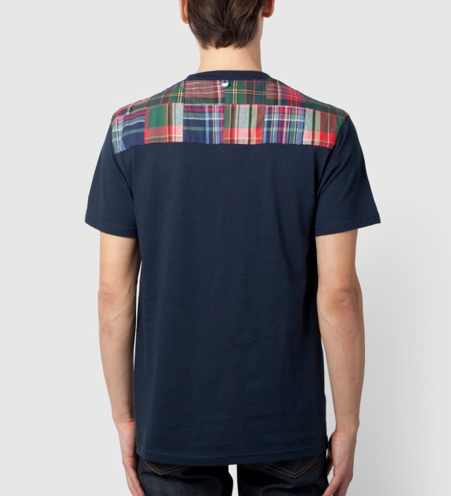 Tantum Navy New Yoke Green Patchwork T-Shirt