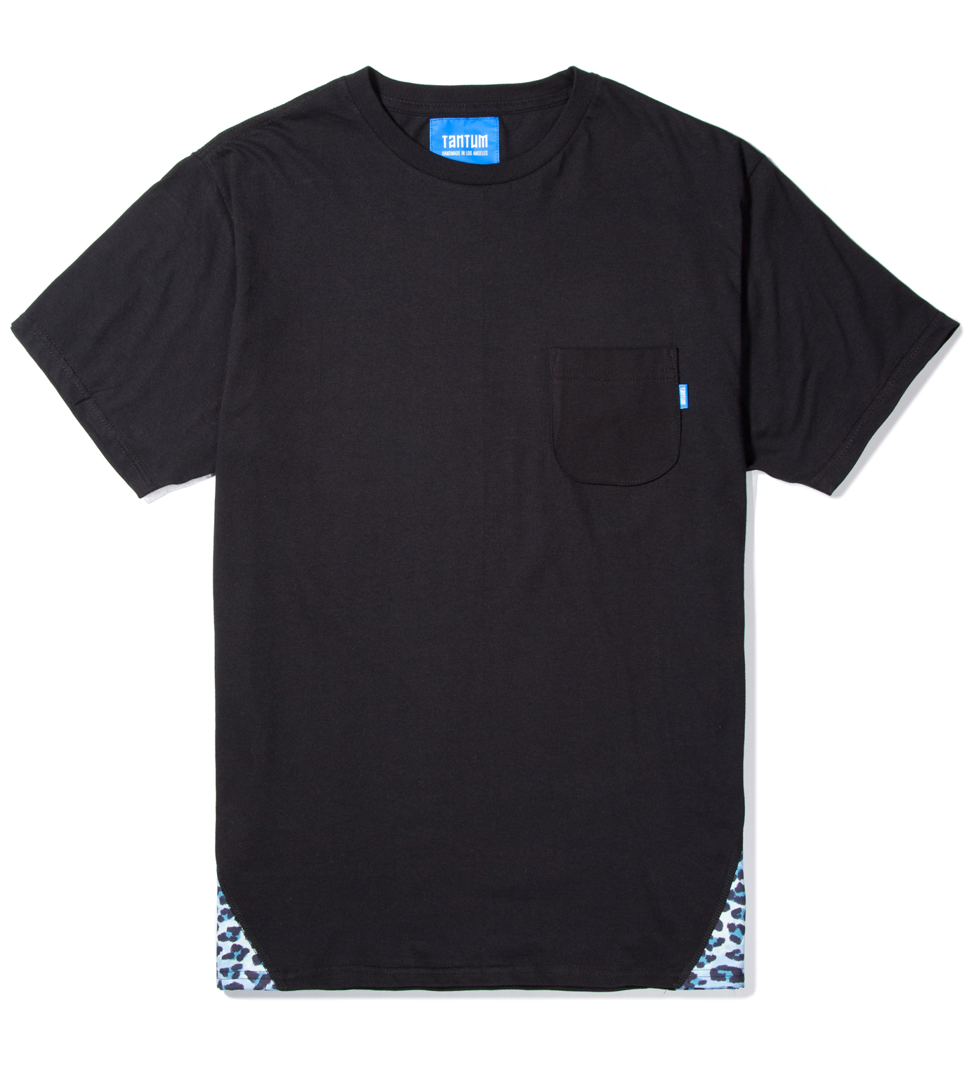 Tantum Black Pyramid Leopard Print T-Shirt