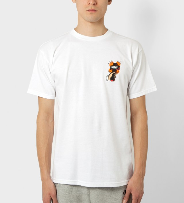 FUCT White Pray Now Fry Later T-Shirt