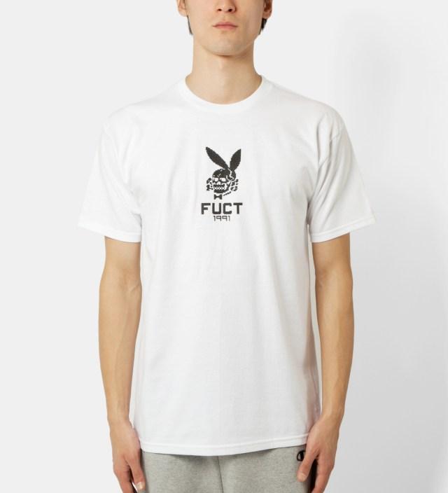 FUCT White 8 Bit Death Bunny T-Shirt