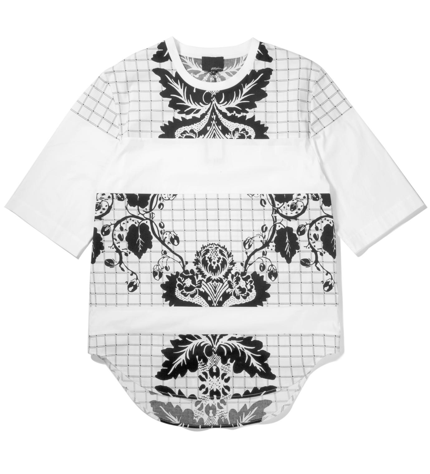 3.1 Phillip Lim Antique White Loose Fit Crewneck T-Shirt Paneled Seams