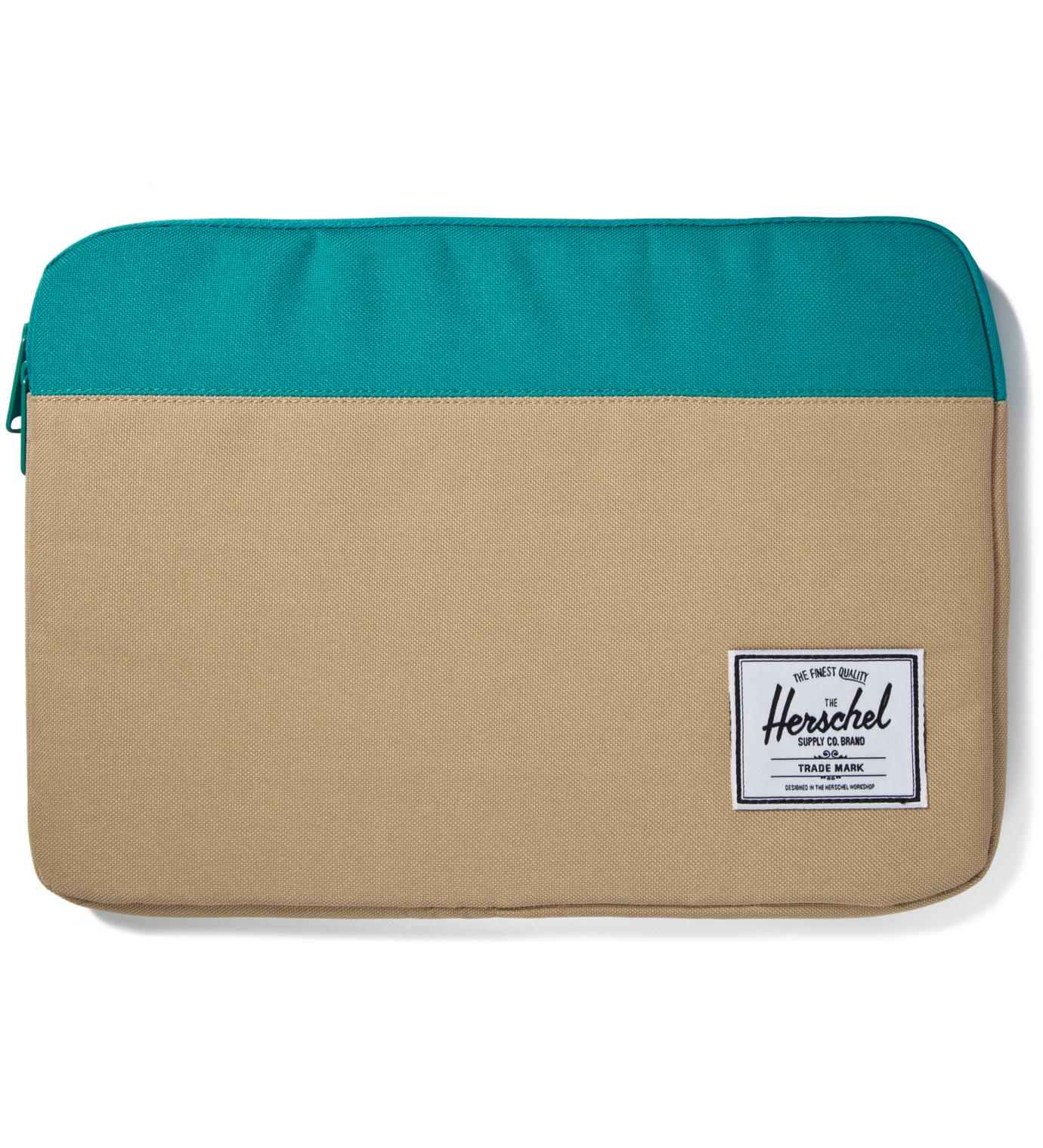 "Herschel Supply Co. Khaki/Teal Anchor Sleeve for 13"" Macbook Pro"