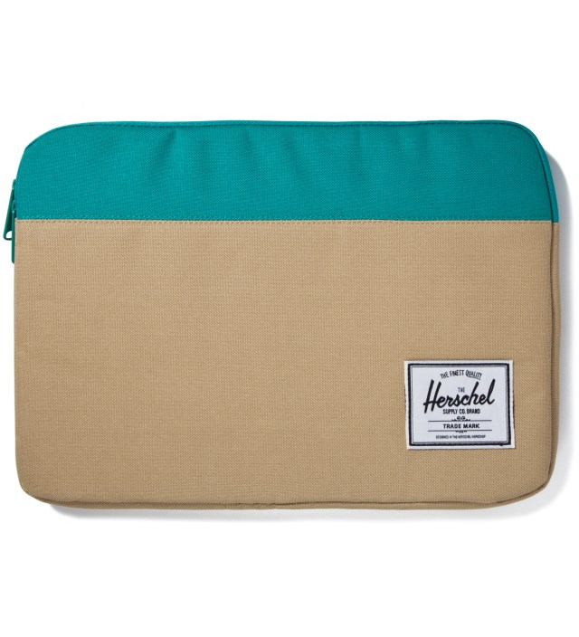 "Herschel Supply Co. Khaki/Teal Anchor Sleeve for 13"" Macbook Pro"