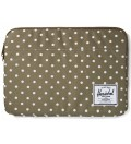 "Herschel Supply Co. Olive Polka Dot Anchor Sleeve for 13"" Macbook Pro"