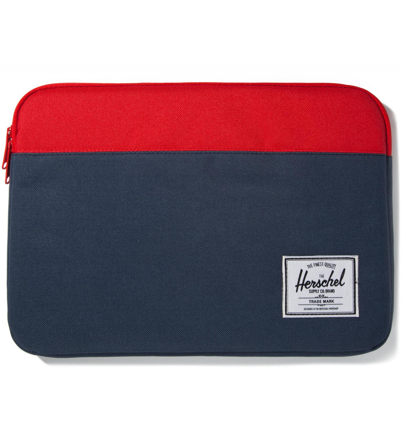 "Herschel Supply Co. Red/Navy Anchor Sleeve for 13"" Macbook Pro"