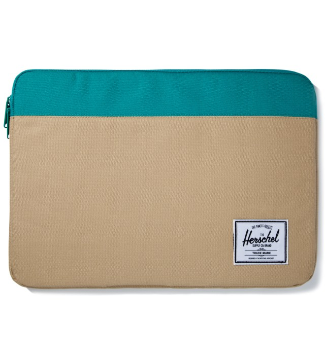 "Herschel Supply Co. Khaki/Teal Anchor Sleeve for 15"" Macbook Pro"