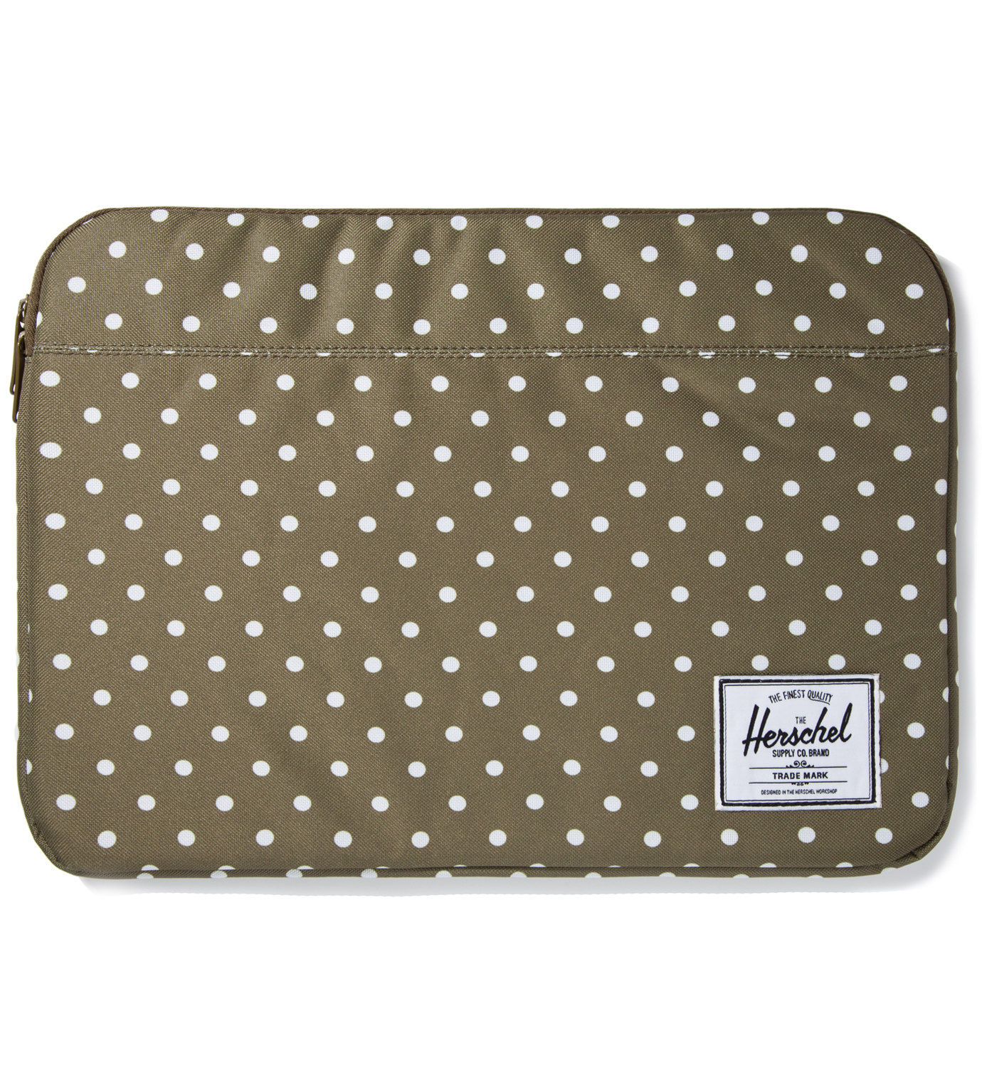"Herschel Supply Co. Olive Polka Dot Anchor Sleeve for 15"" Macbook Pro"