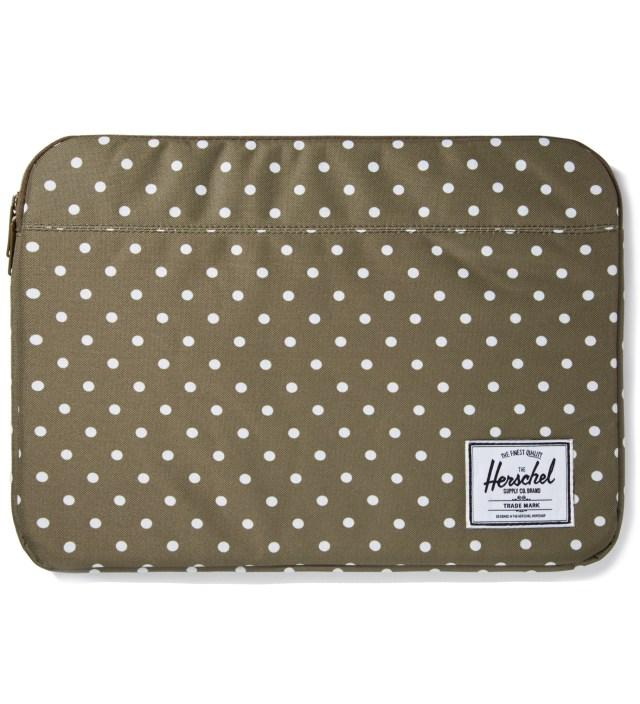 "Herschel Supply Co. Olive Polka Dot Anchor Sleeve for 15"" Macbook Pro"
