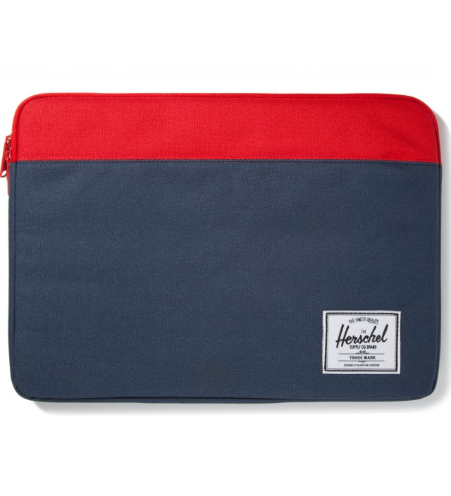 "Herschel Supply Co. Red/Navy Anchor Sleeve for 15"" Macbook Pro"