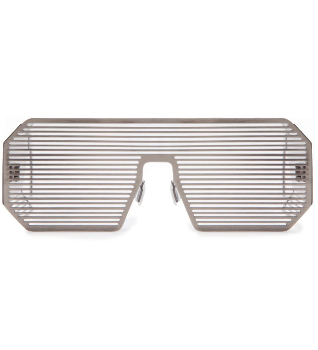 Boris Bidjan Saberi Boris Bidjan Saberi x Linda Farrow Matt Silver and Stainless Steel Sunglass