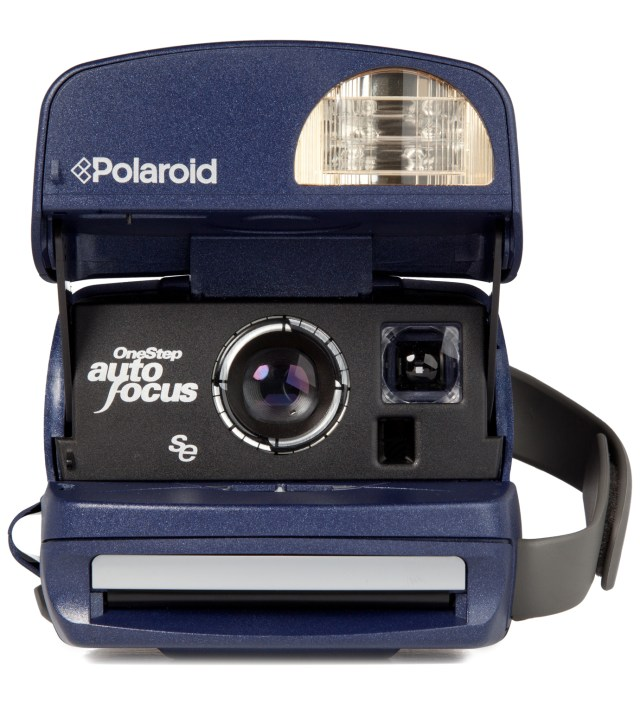 IMPOSSIBLE Navy Refurbished Vintage Polaroid 600 Box Type Camera