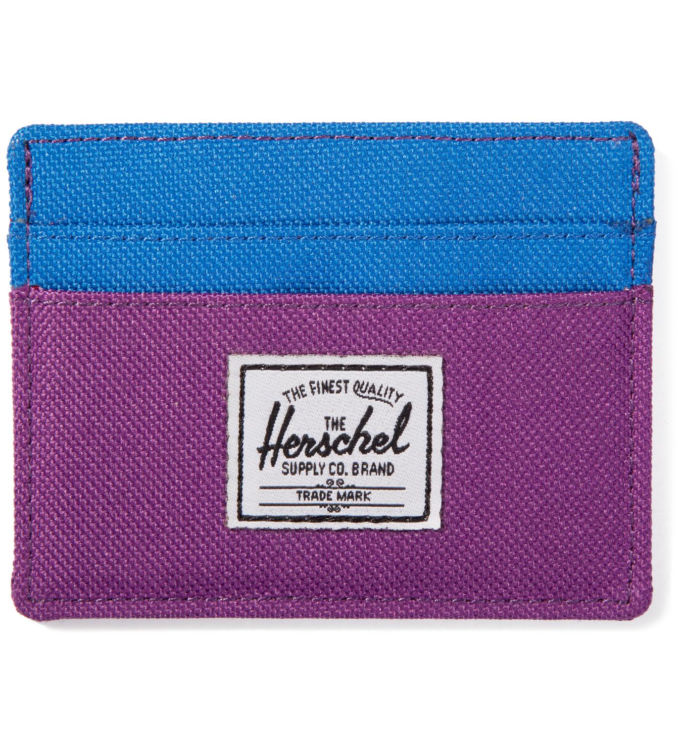 Herschel Supply Co. Purple/Cobalt Charlie Card Case