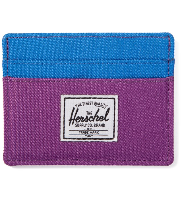 Herschel Supply Co. Purple/Cobalt Charlie Card Case