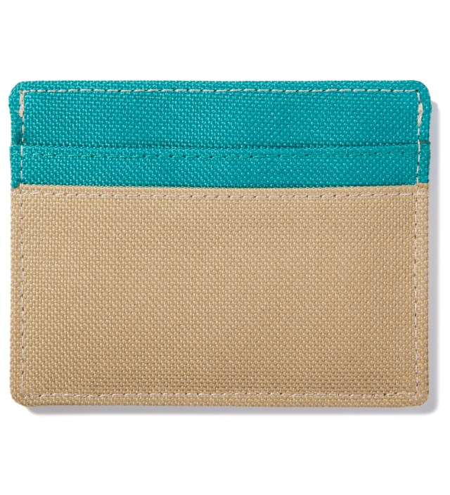 Herschel Supply Co. Khaki/Teal Charlie Card Case