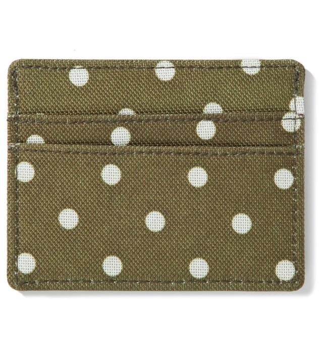 Herschel Supply Co. Olive Polka Dot Charlie Card Case