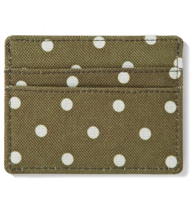 Herschel Supply Co. Olive Polka Dot Charlie Card Case