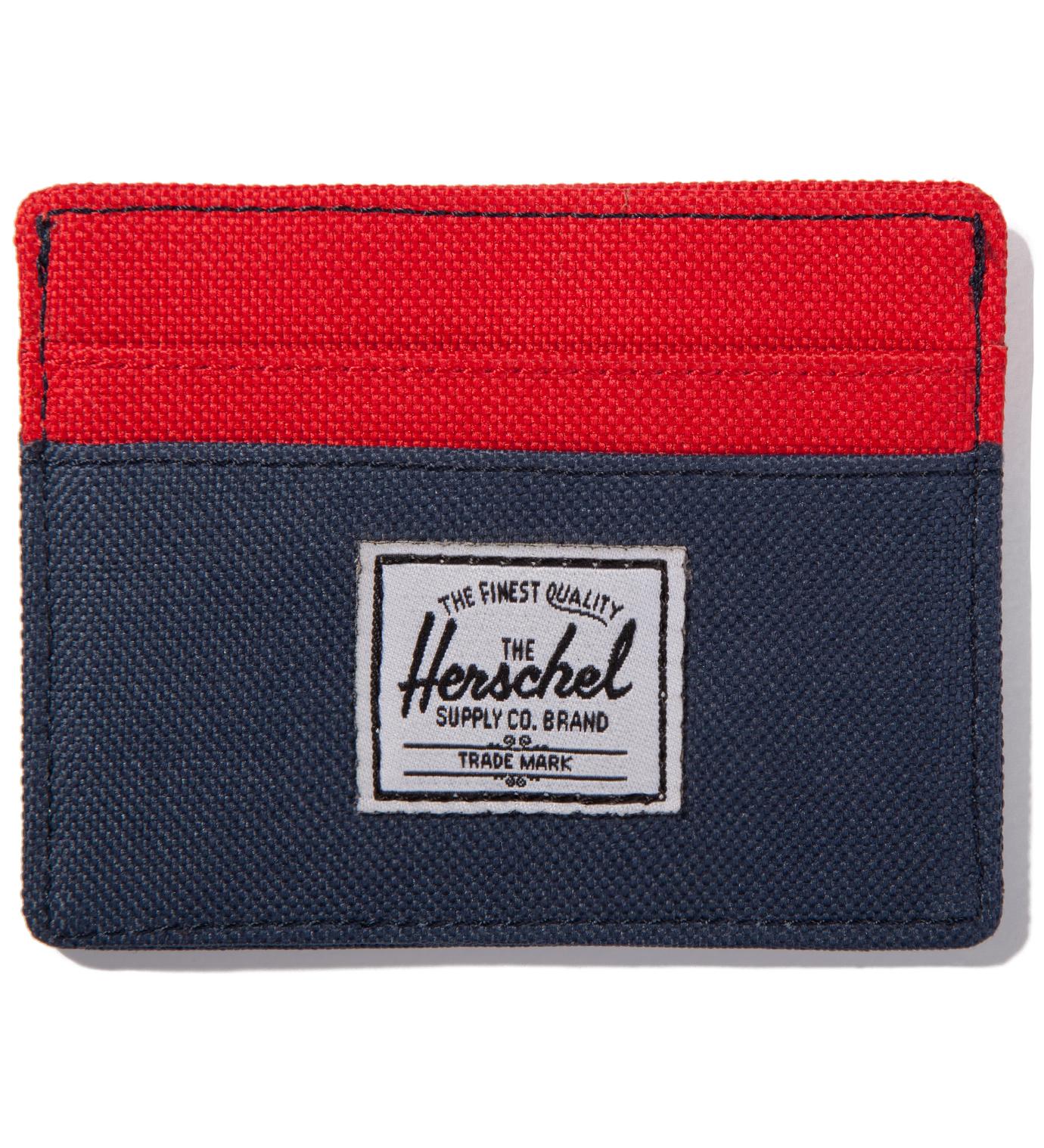 Herschel Supply Co. Red/Navy Charlie Card Case