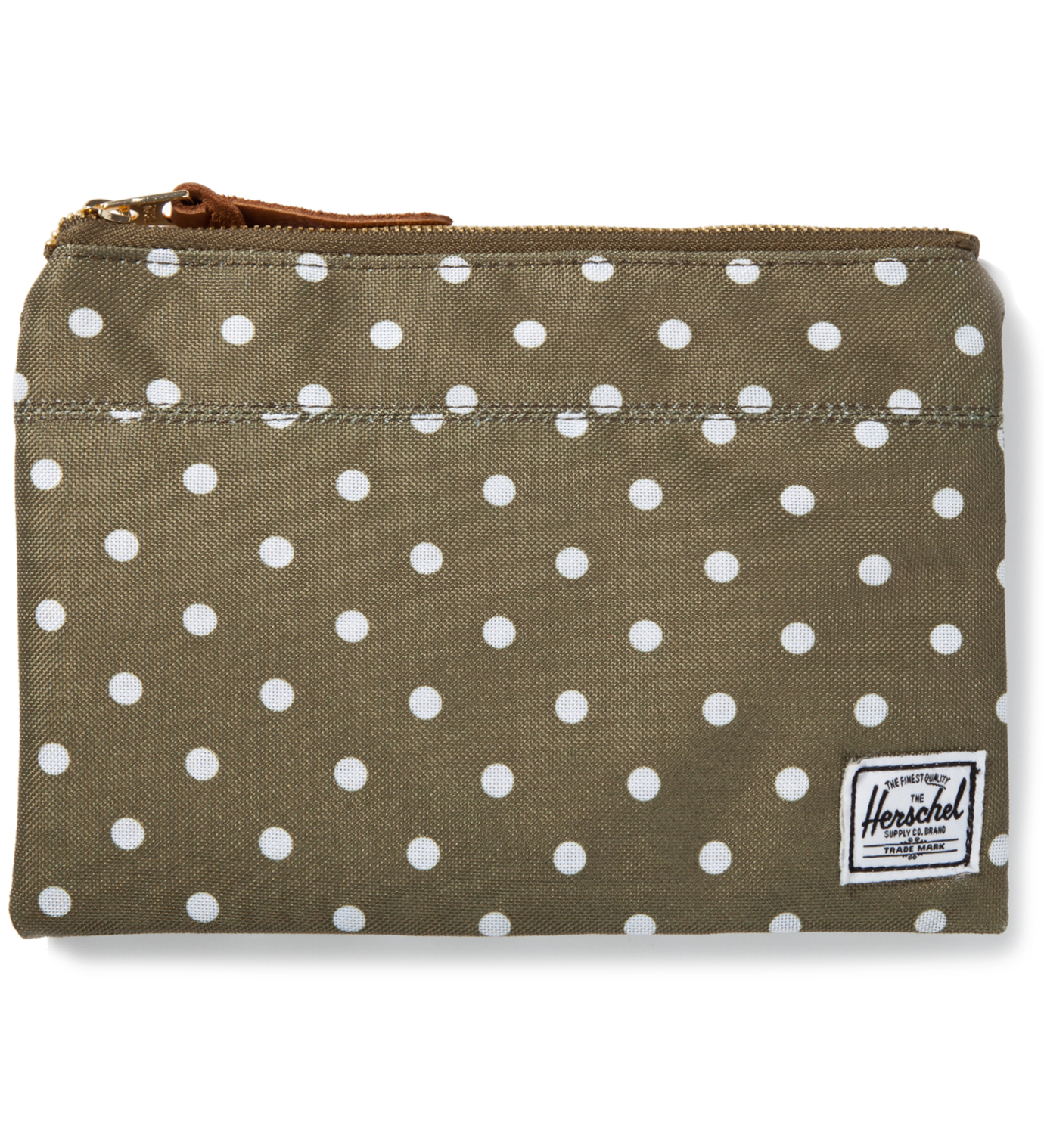 Herschel Supply Co. Olive Polka Dot Field Pouch Large