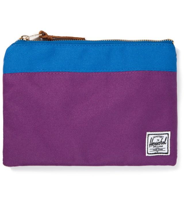 Herschel Supply Co. Purple/Cobalt Field Pouch Large