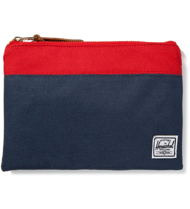 Herschel Supply Co. Red/Navy Field Pouch Large
